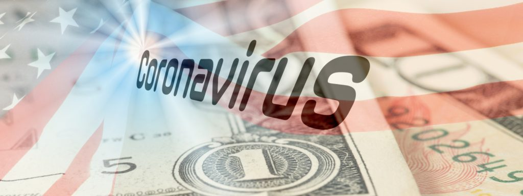 flag-of-usa-dollar-banknote-and-coronavirus-picture-id1211347100